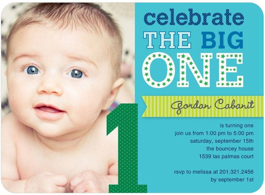 1st Baby Boy Cheap Birthday Invitations Templates