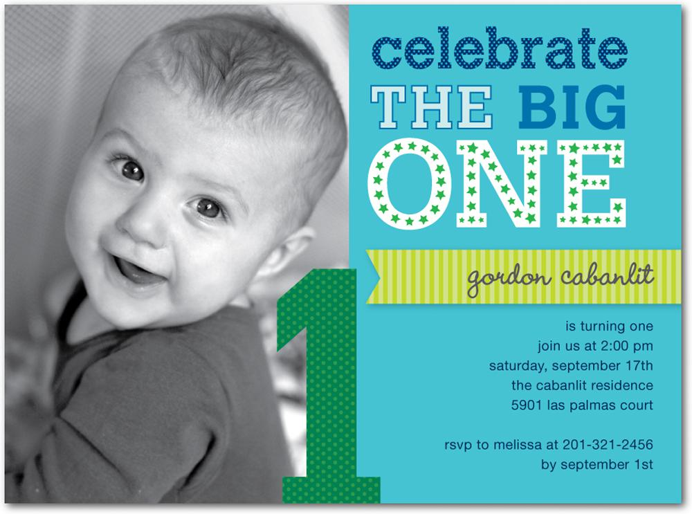 Best First Birthday Invites Printable Sample Templates - One year birthday invitation template