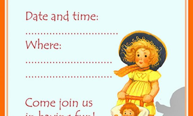 2nd Birthday Invitations For Girls Templates