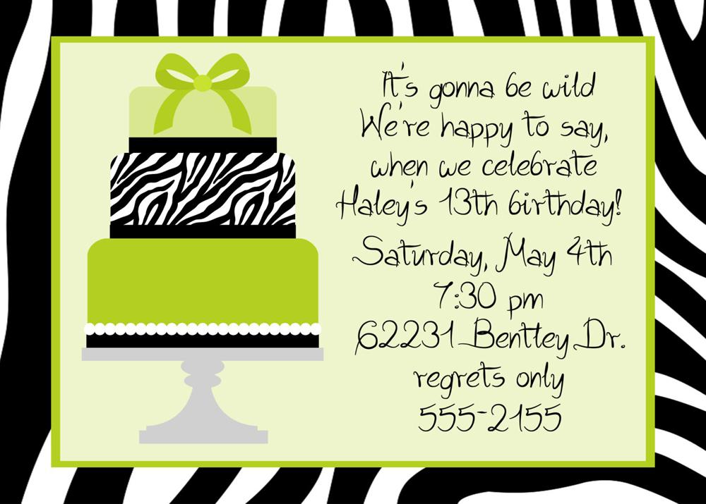 50th Birthday Diner Teen Birthday Invitations Wording