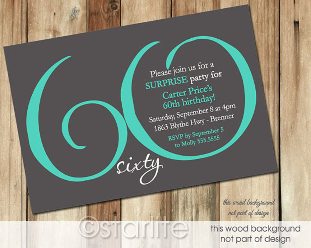 60th birthday party invitation templates - Etame.mibawa.co