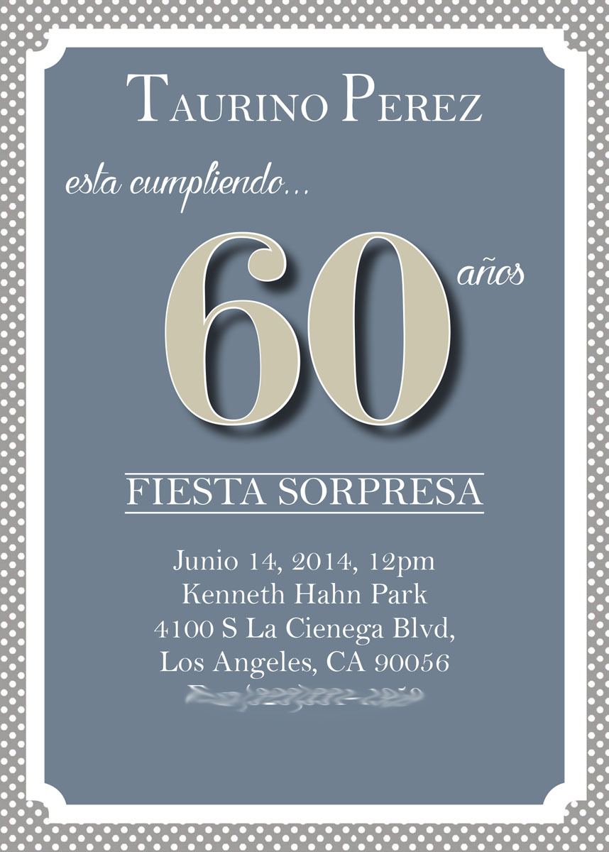 60th Birthday Party Invitations Surprise Examples
