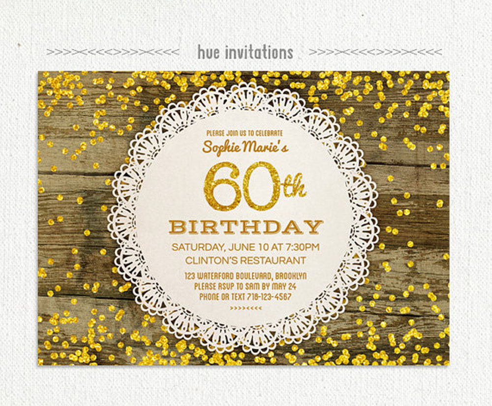 60th Birthday Party Invitations Uk