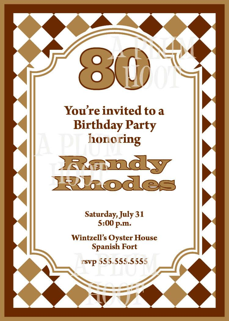 80Th Birthday Invitation Wording – gangcraft.net