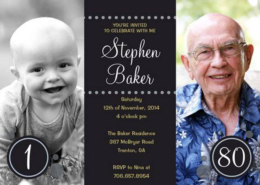 10+ sample images 80th birthday party invitations templates for, Birthday invitations