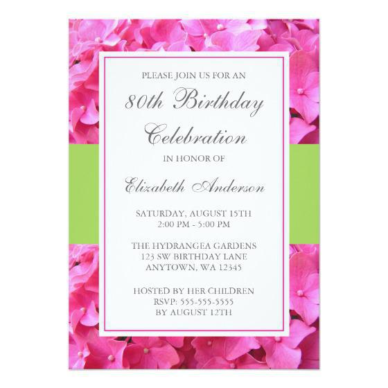 80th Birthday Party Invitations Wording Templates