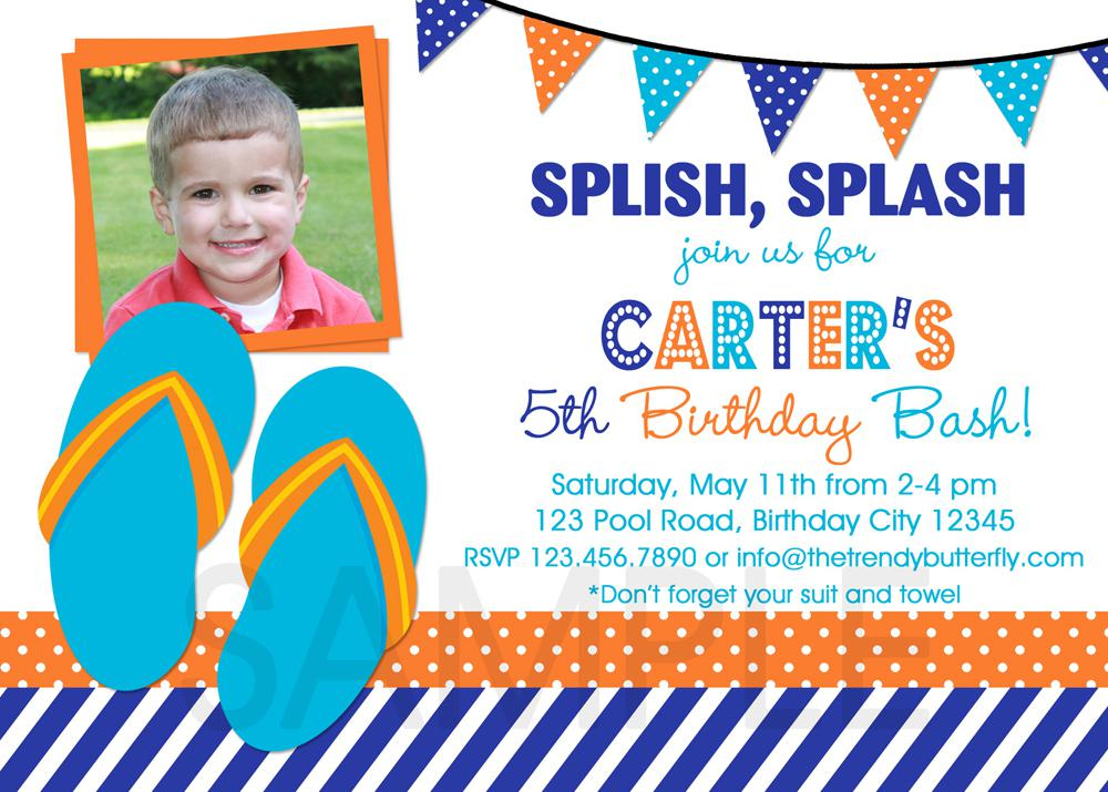 Birthday Invitations For Kids With Photo