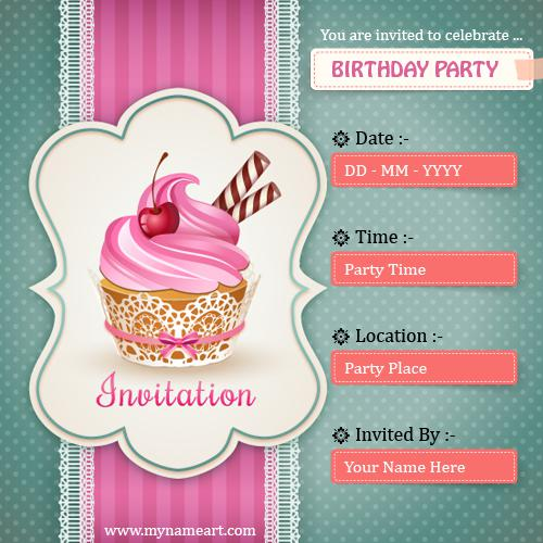 Birthday Party Invitation Cards Customized