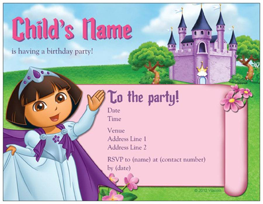 11 unique and cheap birthday invitation that you can try to use blank custom dora cheap birthday invitations cards filmwisefo