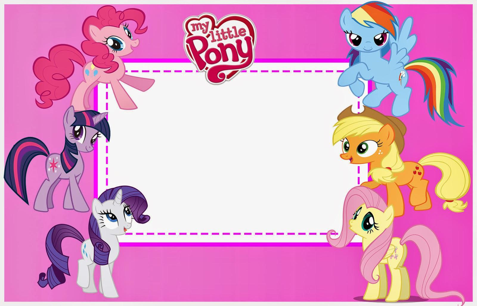 Blank Printable Birthday Invitations My Litle Pony