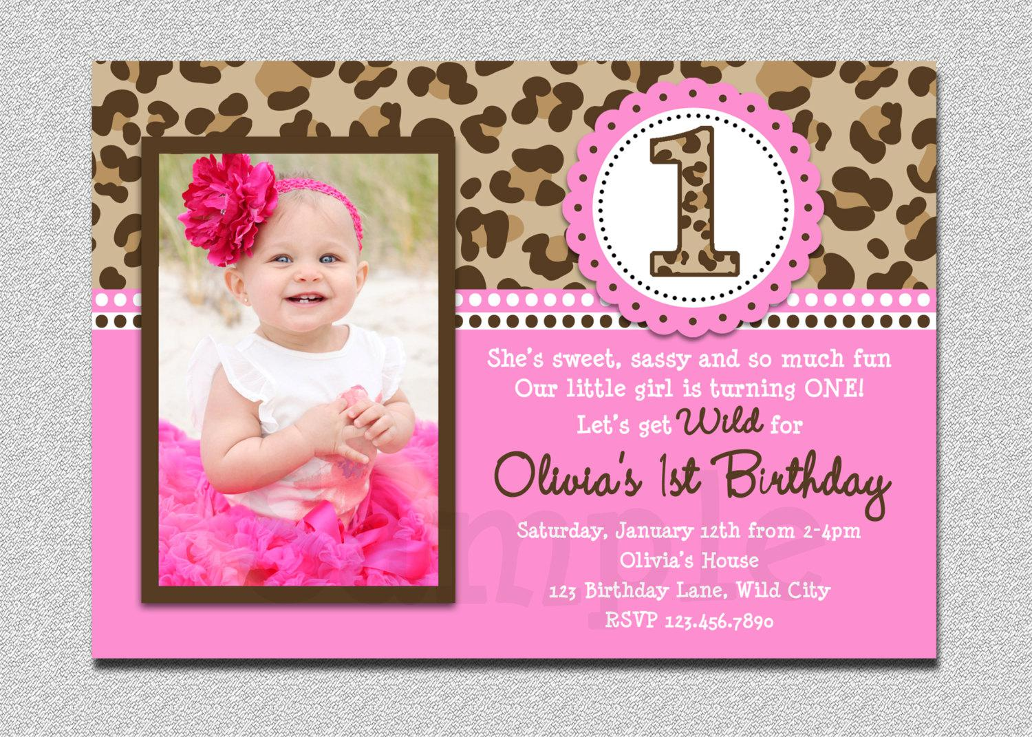 Custom First Birthday Invitations