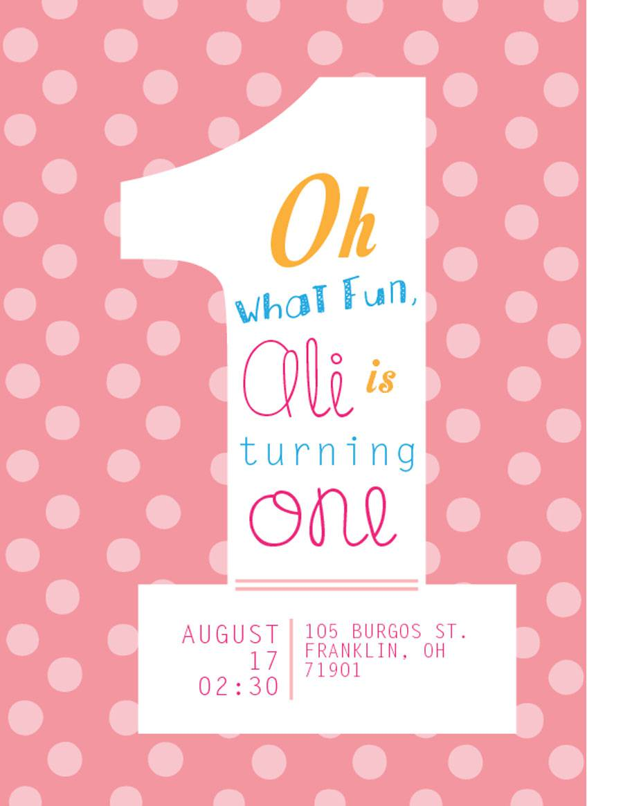 Cute 1st Cheap Birthday Invitations Cards For Girls