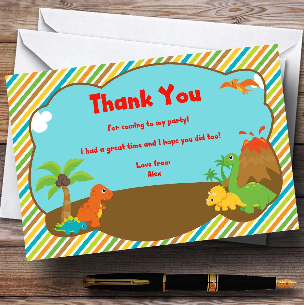 Dinosaur Birthday Invitations Thank You Cards