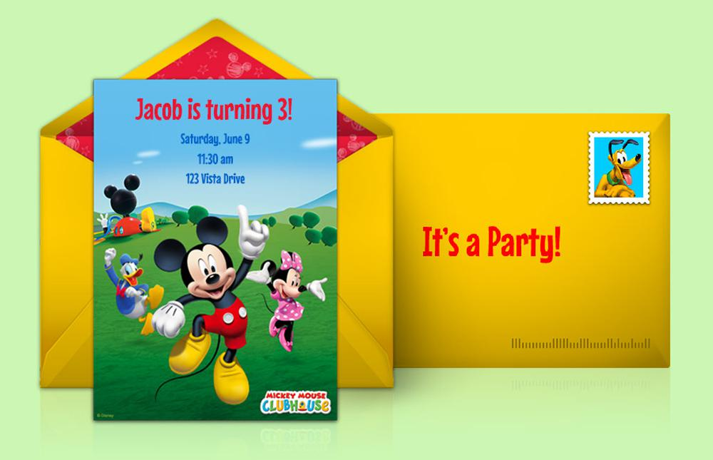 Disney Mickey Mouse Birthday Invitations Customized
