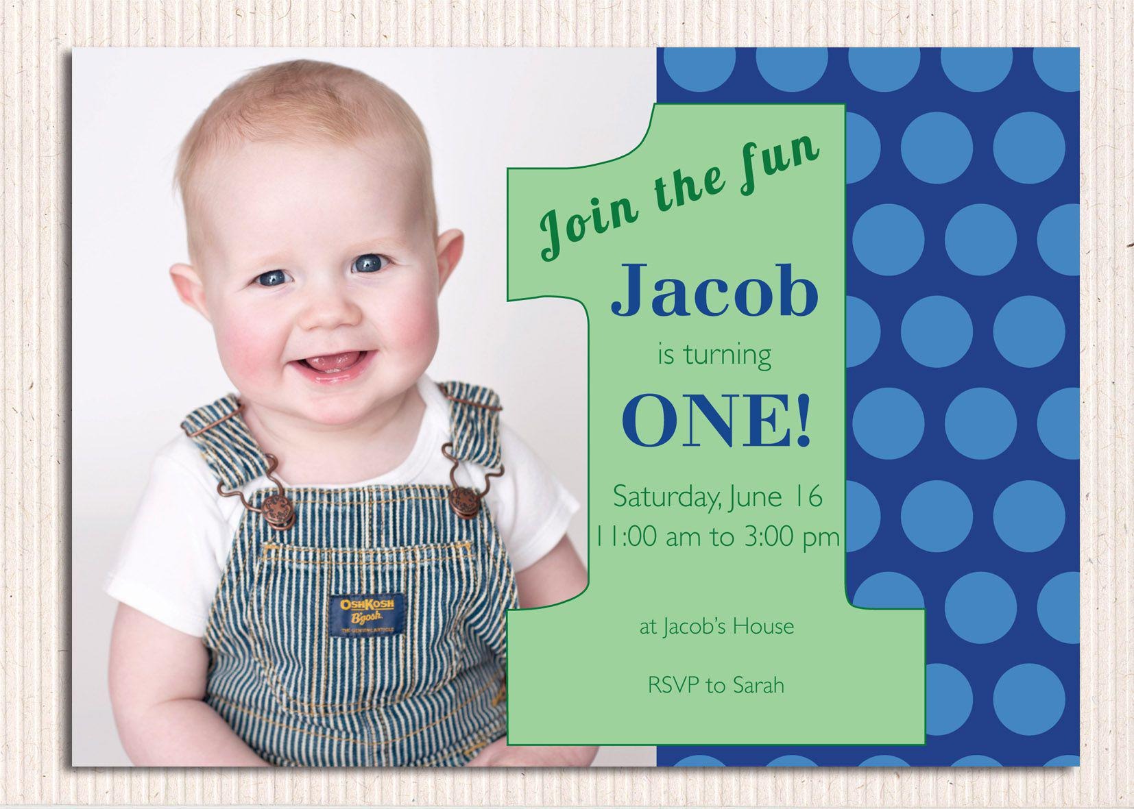 First Birthday Invites One For Birthday Party Invitations Samples Baby Boy