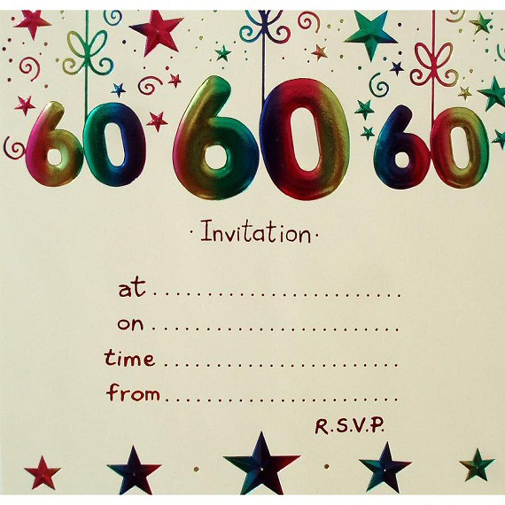 20 Ideas 60th birthday party invitations Card Templates – Printable 60th Birthday Cards