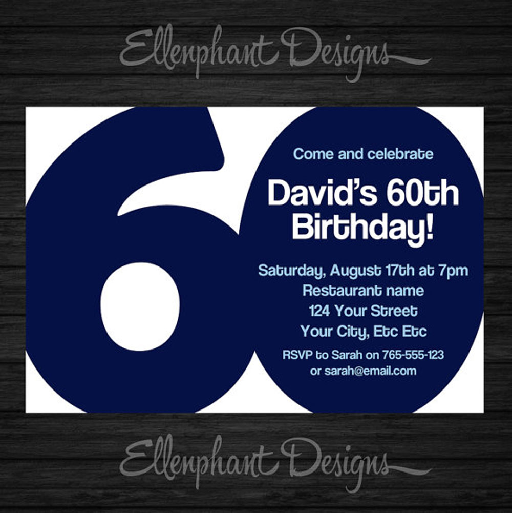 Ideas Th Birthday Party Invitations Card Templates Birthday - Invitations for 60th birthday party templates