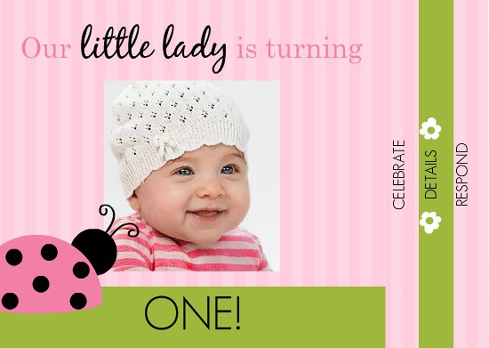16 best first birthday invites printable sample templates source quotesgram lady bug first birthday invitations wording stopboris Choice Image