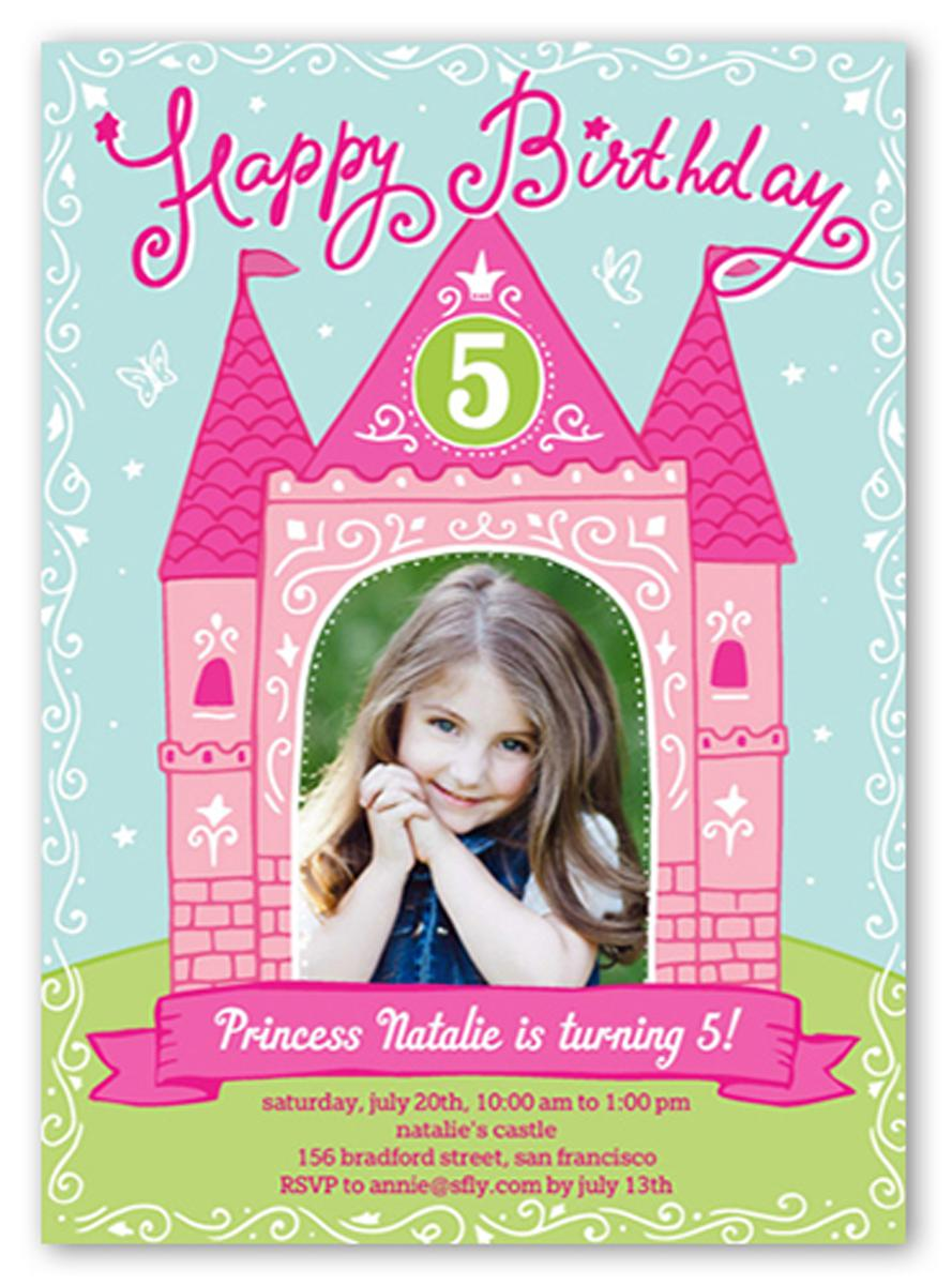 Princess Birthday Party Invitations For Kids