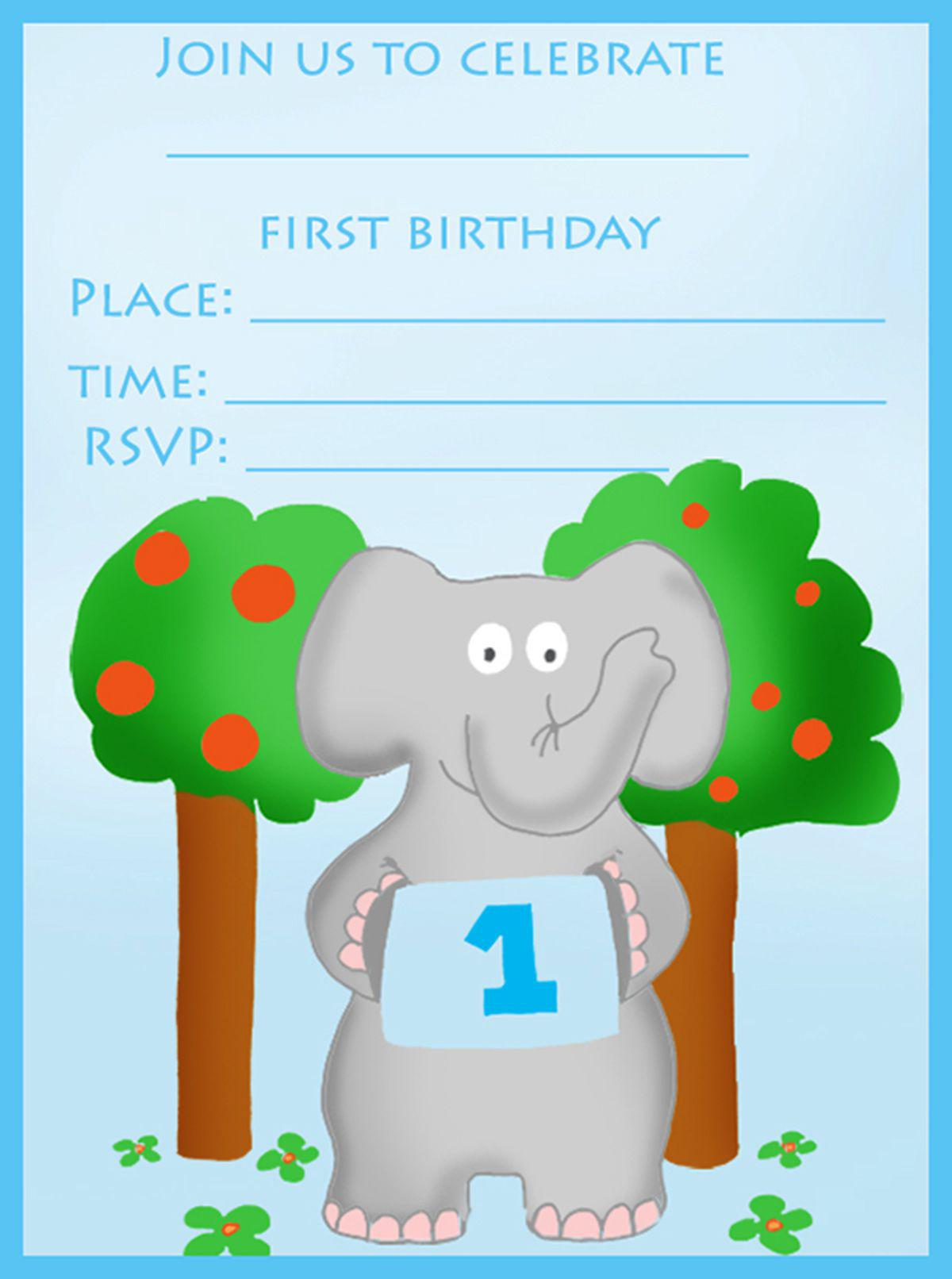 Printable 1st Birthday Invitations For Boy