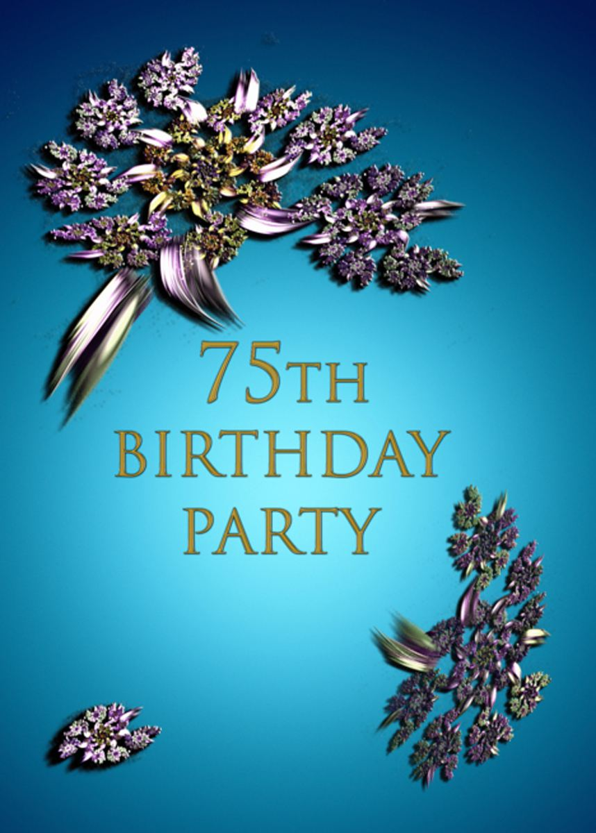 Printable 75 Birthday Party Invitations Samples