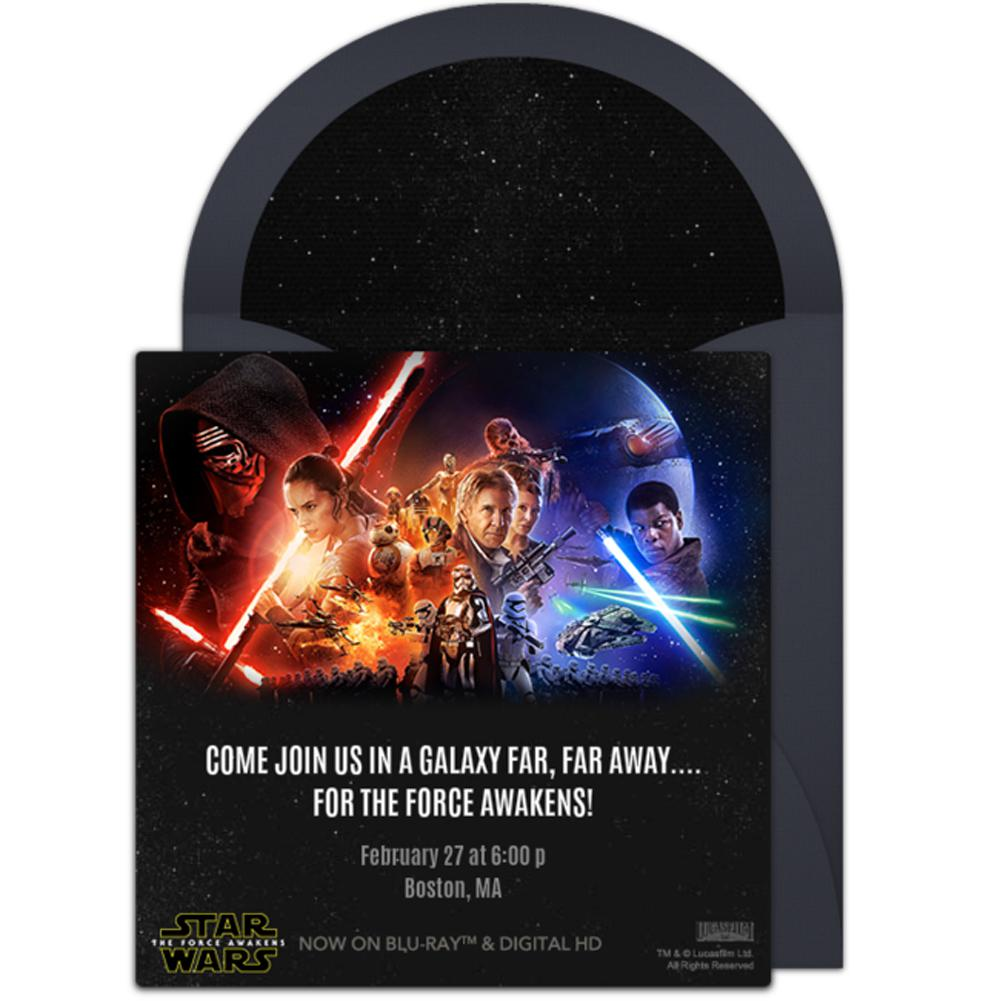 Star Wars Birthday Invitations For Customized