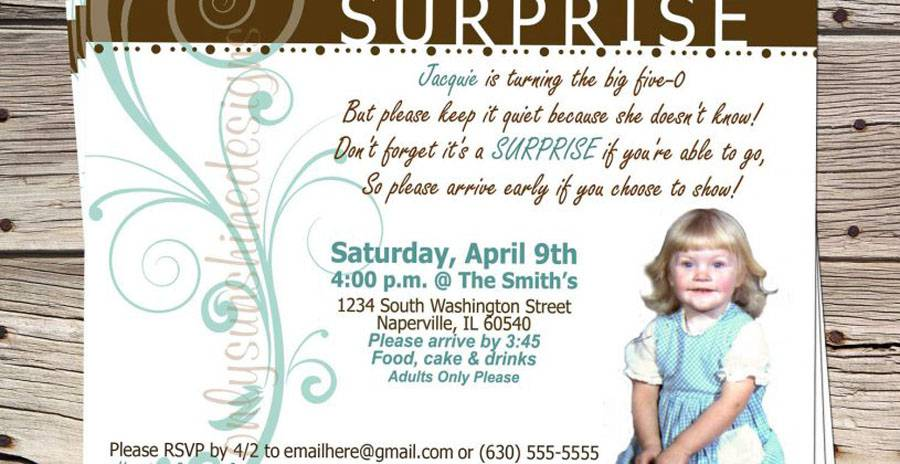 Surprise 5th Cheap Birthday Invitations Templates
