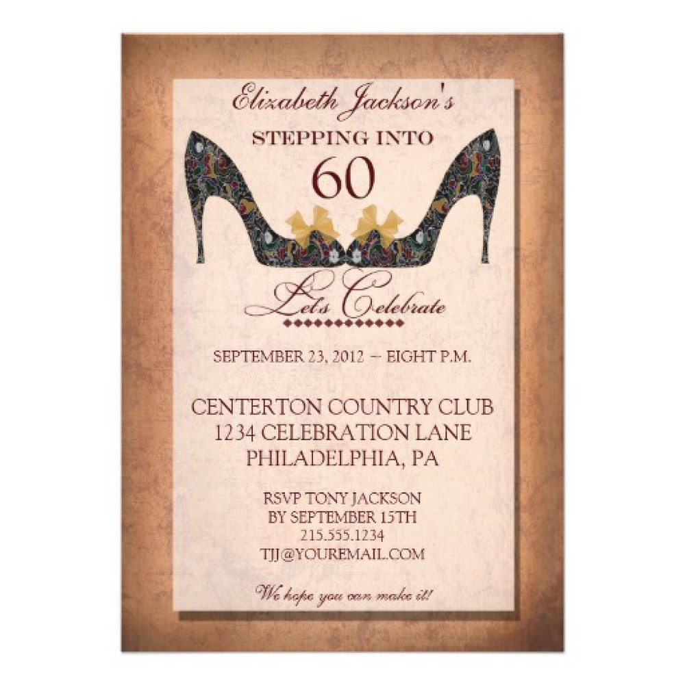 Surprise 60th Birthday Party Invitations Template