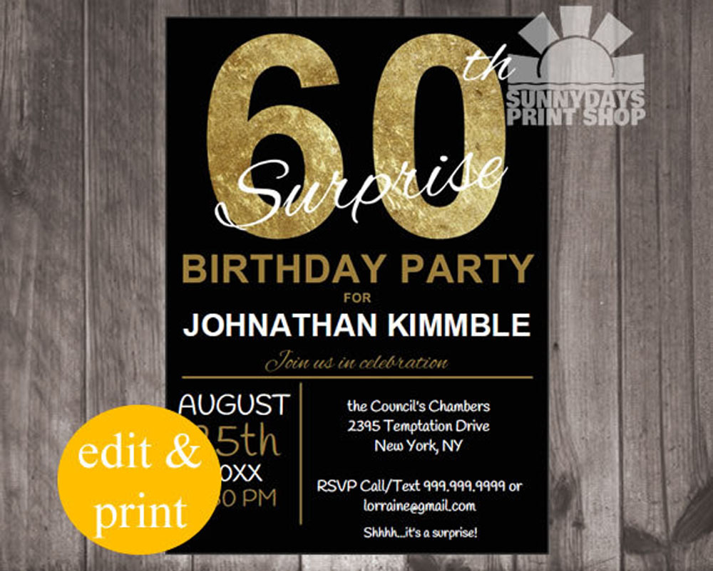 ideas th birthday party invitations card templates, Birthday invitations