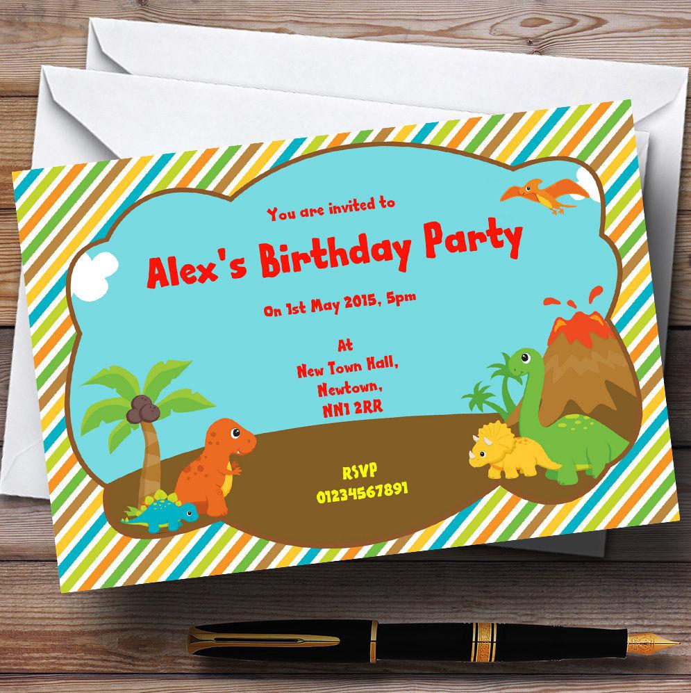 Sweet Dinosaur Birthday Invitations