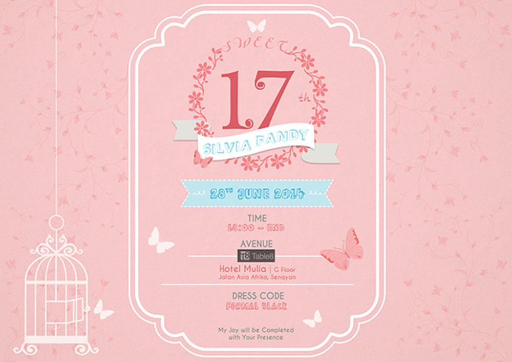 Sweet Seventeen Birthday Invitations Custom