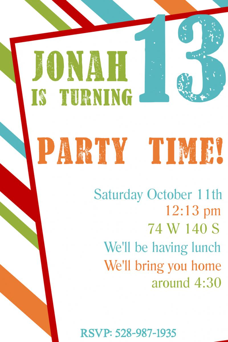 Teen Birthday Invitations Wording Samples