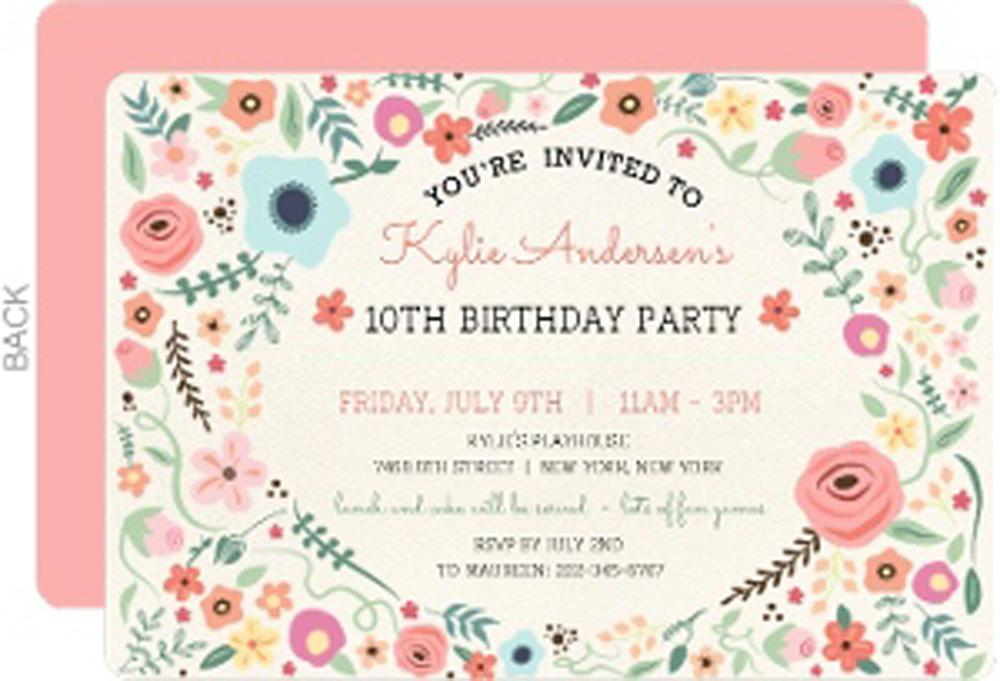 Teen Birthday Invitations Wording