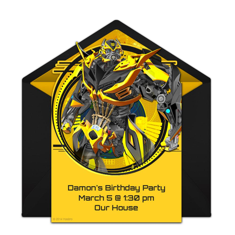 Transformer Birthday Party Invitations Templates Ideas For Customized