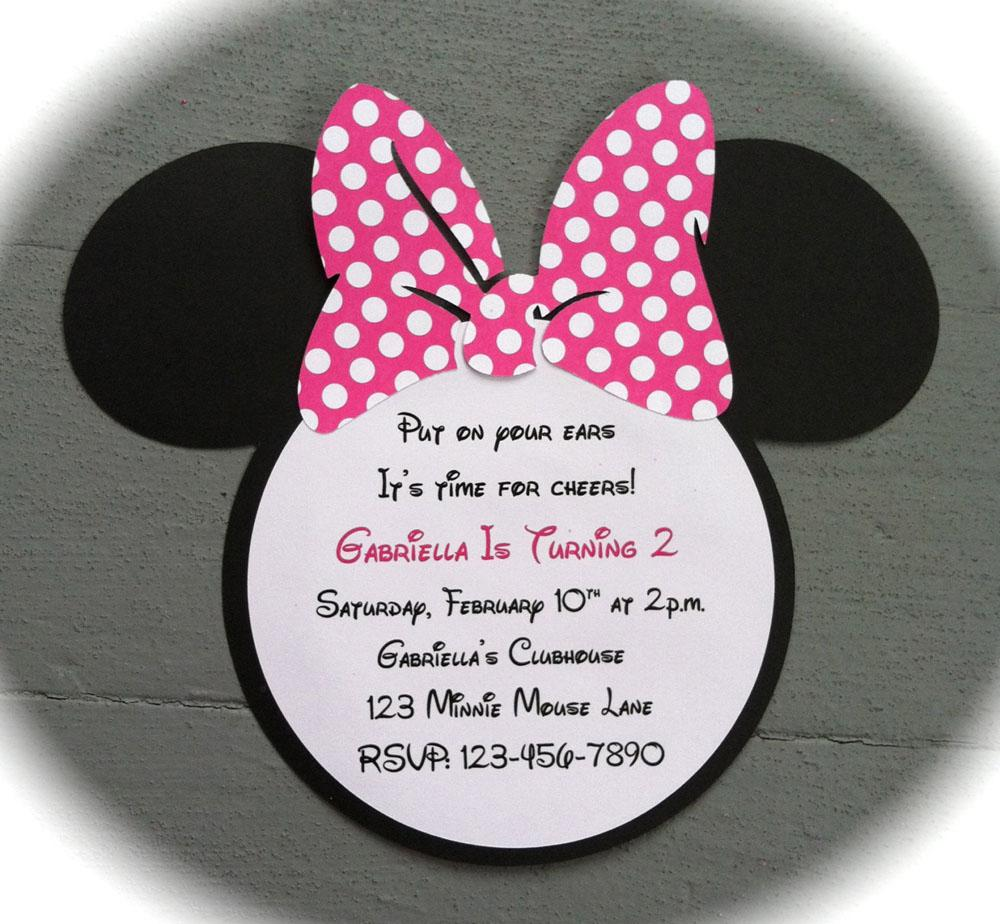 Unique Minnie Mouse Birthday Invitations Wording Custom