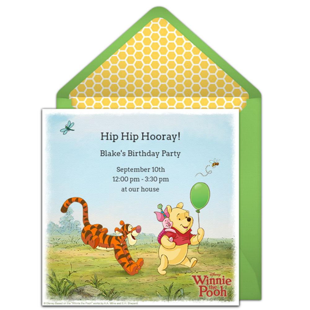 Winnie The Pooh Birthday Party Invitations