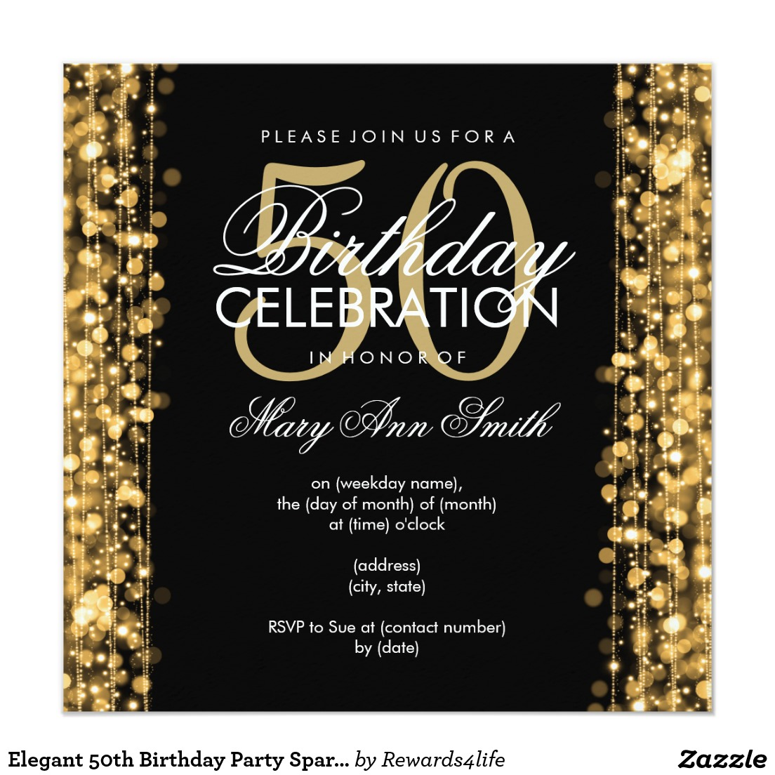 14 50 birthday invitations designs free sample templates 50 birthday celebration party invitations filmwisefo Choice Image