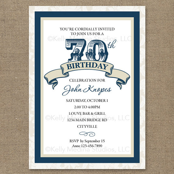70th Birthday Party Invitations Free