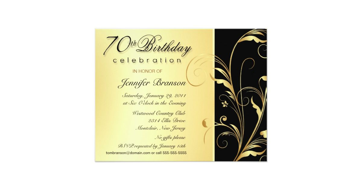 15+ 70th Birthday Invitations Design and Theme Ideas | Birthday ...