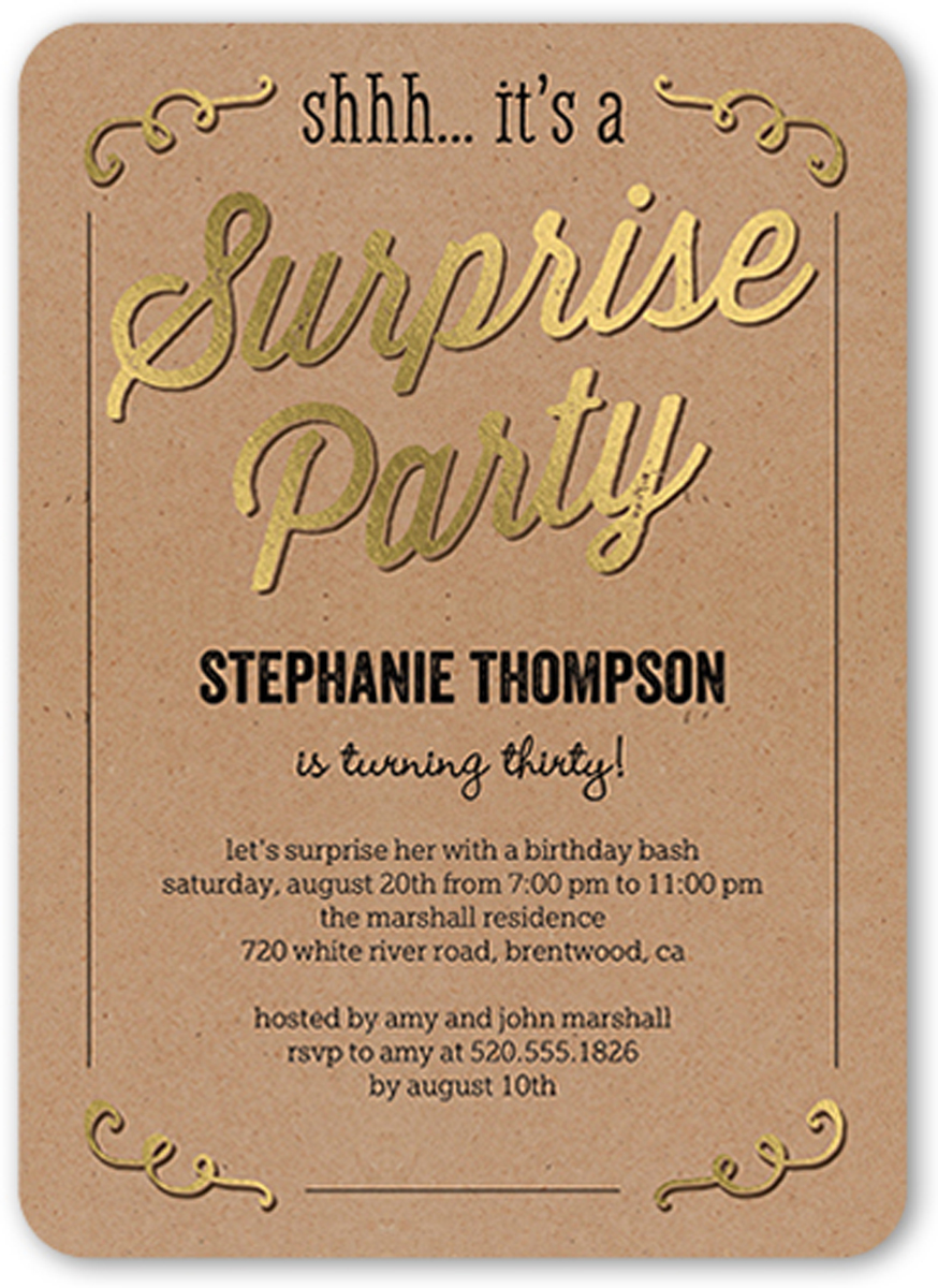 Adult Sweet Surprise Birthday Invitations