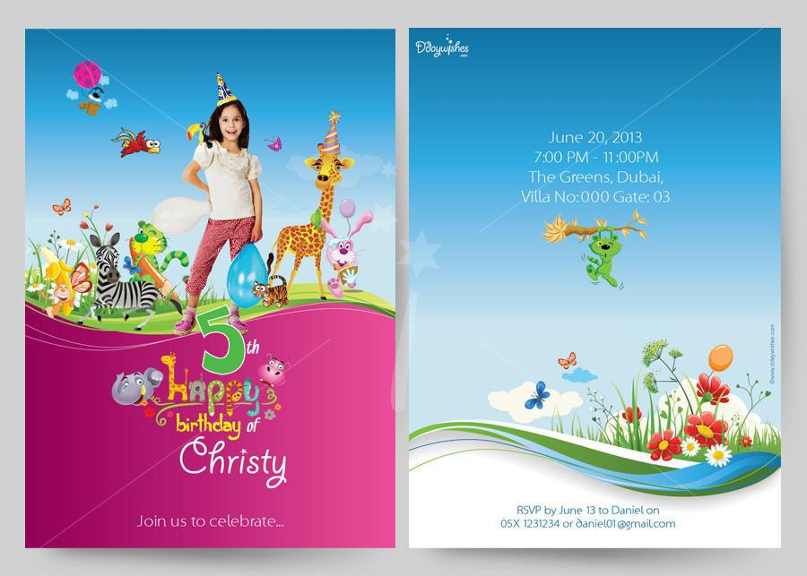 Birthday Card Invitation Design