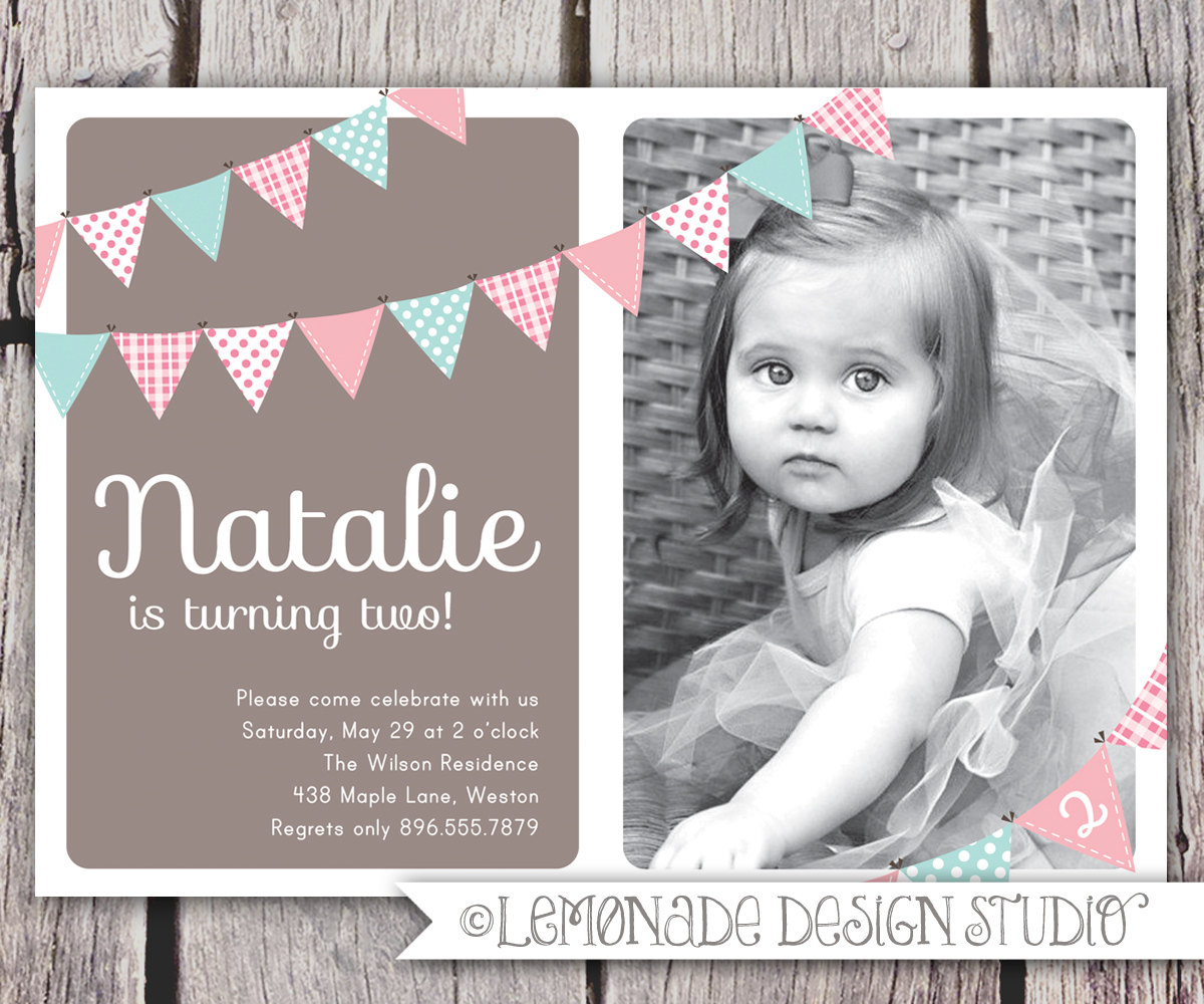 Birthday Invite Wording For 2 Year Old