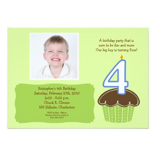 Birthday Invite Wording For 4 Year Old