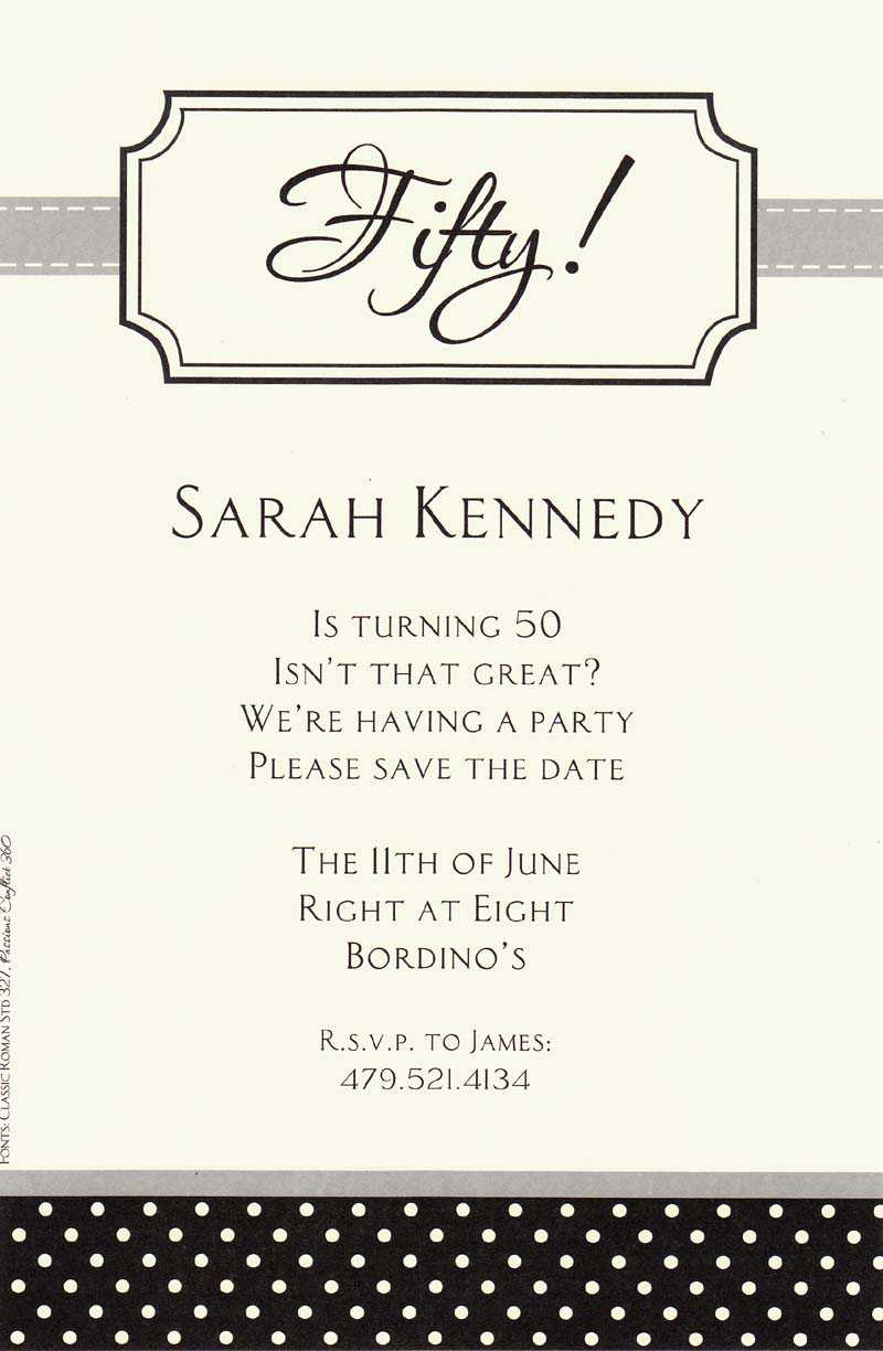 Birthday Invite Wording Ideas