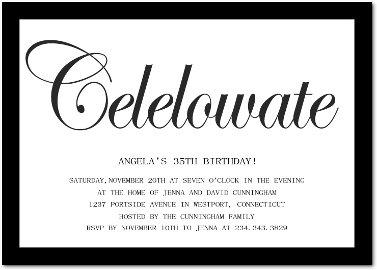 Poetic fun invitation wording for adults