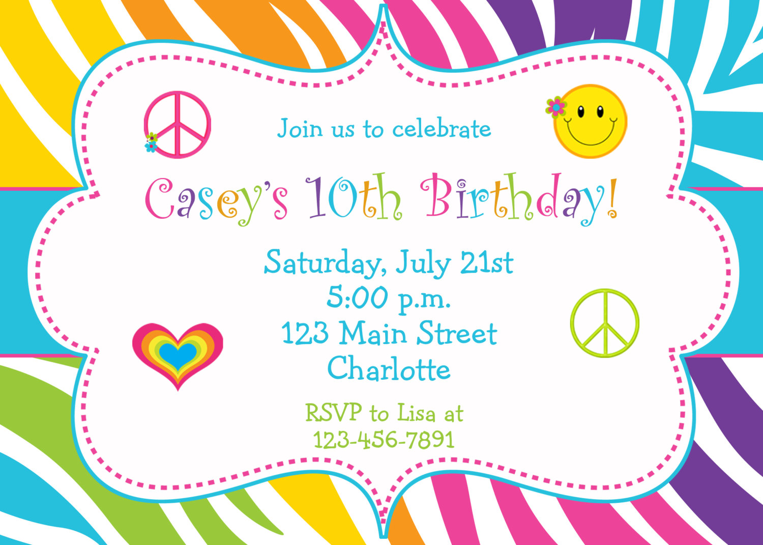 5+ Images Several Different Birthday Invitation Maker | Birthday ...