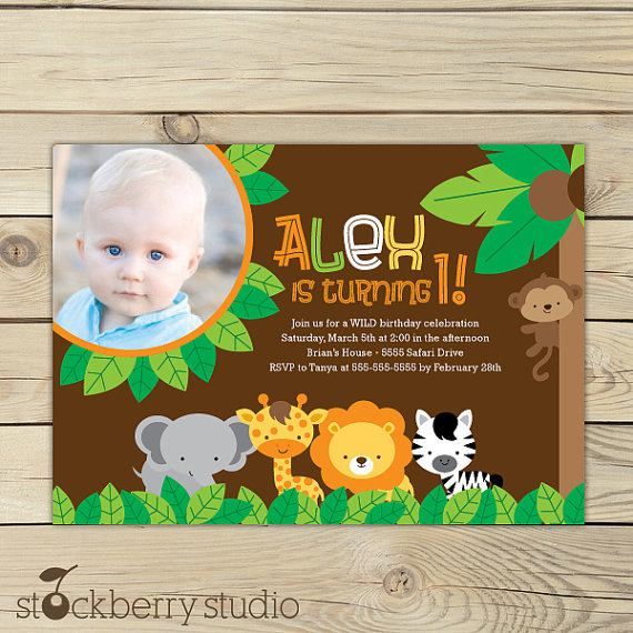 Jungle Safari Birthday Invitation Printable