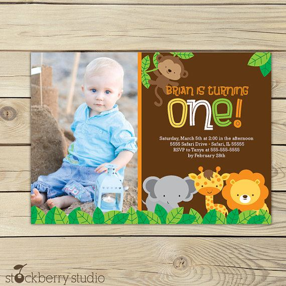 Jungle Safari Party Birthday Invitation Printable