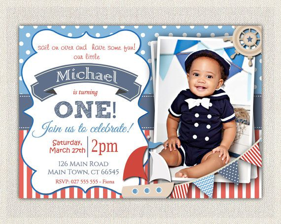 5+ Nautical Birthday Invitations for Your inspiration ...
