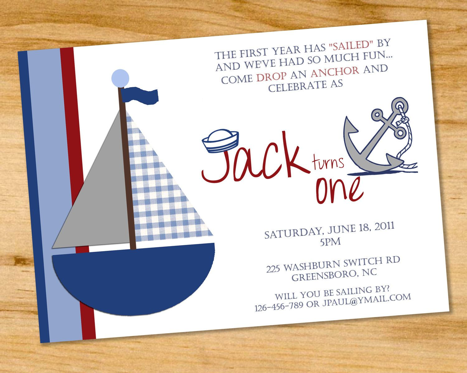 nautical birthday invitations for your inspiration  birthday, Birthday invitations